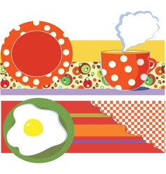 breakfast graphic vector image vector image