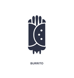 Burrito icon on white background simple element vector