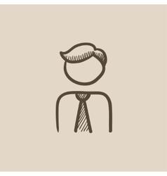 Businessman sketch icon vector image