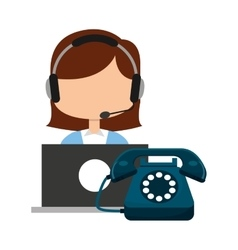 call center operator avatar vector image