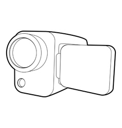 Camcorder icon isometric 3d style vector
