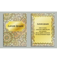 Card or invitation in oriental style with eastern vector image