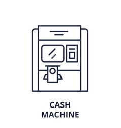 cash machine line icon concept cash machine vector image