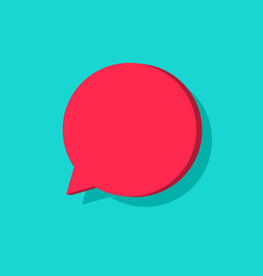 chat bubble icon isolated flat cartoon vector image