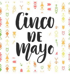cinco de mayo mexican holiday poster vector image