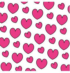 color beauty heart romance symbol background vector image