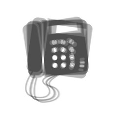 communication or phone sign gray icon vector image vector image