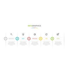 Concept arrow business model with 5 successive vector