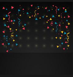 Confetti in dark background vector