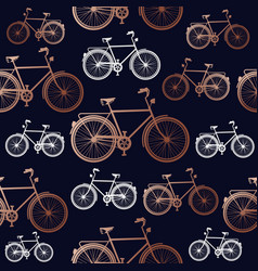 copper bike seamless pattern background vector image