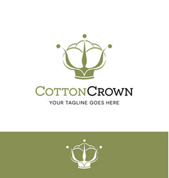 Cotton ball in a crown logo vector