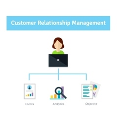Customer Relationship Management Manager fills vector