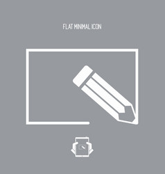 customized project - minimal flat icon vector image