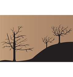 Dead tree background vector