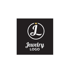 diamond jewelry initial jl circular logo design vector image