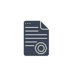 Diploma related glyph icon vector