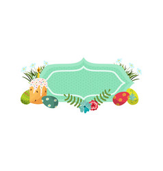 Easter poster banner template vector
