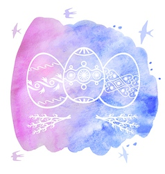 Easter water contour vector