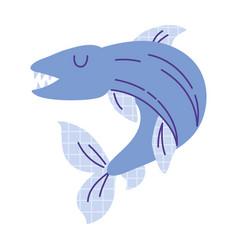 electric eel animal cartoon doodle color vector image