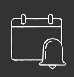 Event notification chalk icon vector