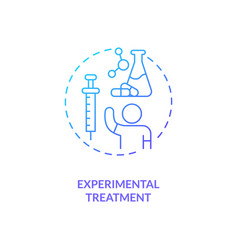 Experimental treatment concept icon vector