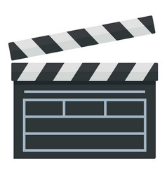 Film production clapper icon flat style vector