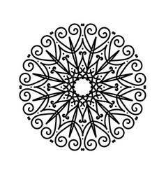 Floral round decorative sketch ethnic decorative vector