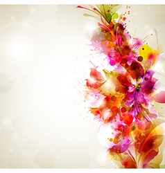 flower and design vector image