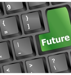 Future time concept with key on computer keyboard vector