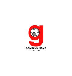 g letter logo football ball logo design vector image