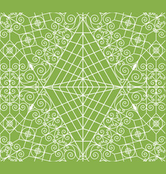 geometric greenery seamless pattern vector image