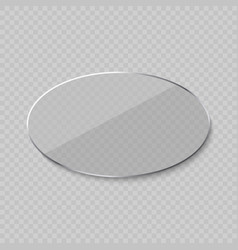 glare glass frame vector image