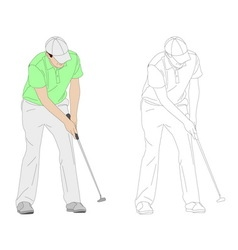 golf player 3 vector image