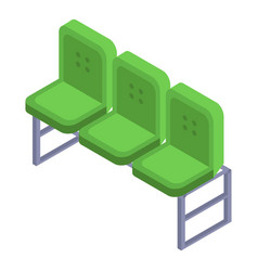 green chair from football arena icon isometric vector image