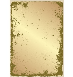 Grunge gold vector