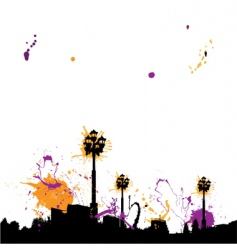 grunge town vector image