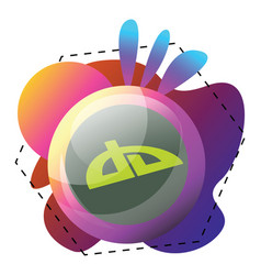 icon a devianart logo inside colorful graphics vector image