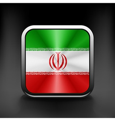 Iran icon flag national travel icon country symbol vector image