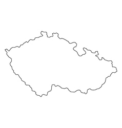 Map of the Czech Republic vector
