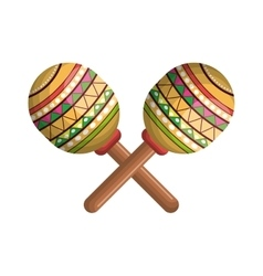 Maracas instrument musical with mexican theme vector