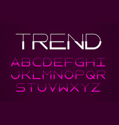 Modern thin font trendy style typeface vector