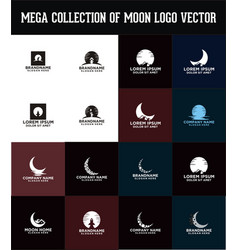 Moon logo design vector