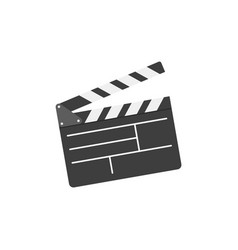 movie clapper board in flat style vector image