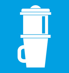 mug for coffee icon white vector image