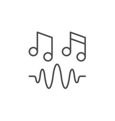 music or sound line outline icon vector image