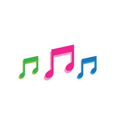 Music play symbols logo and icons template vector