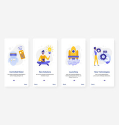 New future automation technology innovation ux vector