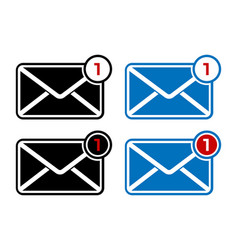 New message notification icon social media chat vector