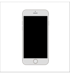 New version of white slim smartphone with blank vector