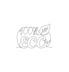 one continuous line drawing natural and vector image